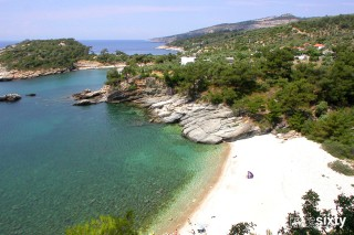 about thassos christin calm houses beaches