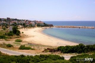 about thassos christin calm houses beautiful beach