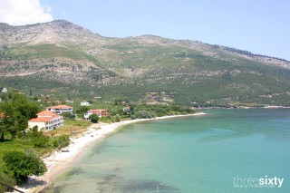 about thassos christin calm houses sandy beach